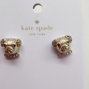 Kate Spade New Gold Puppy Earrings